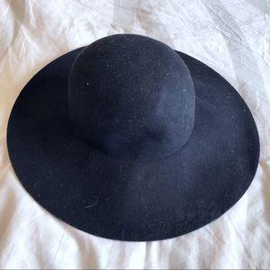 H&M black floppy felt hat!